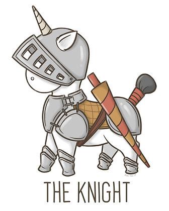 Knight Unicorn Home Decor Print
