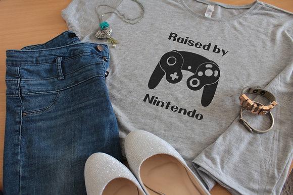 Women's Tops 'Raised By Nintendo Gamecube' Geek Boxy Crop Tee