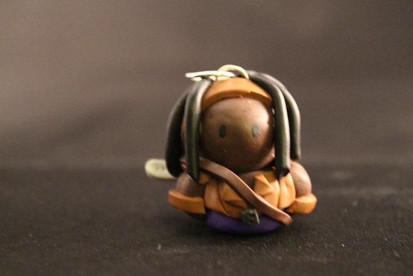 Michonne The Walking Dead Polymer Clay Chibi Charm