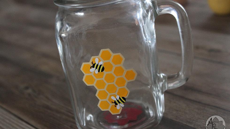 HONEYCOMB Mason Jar Mug