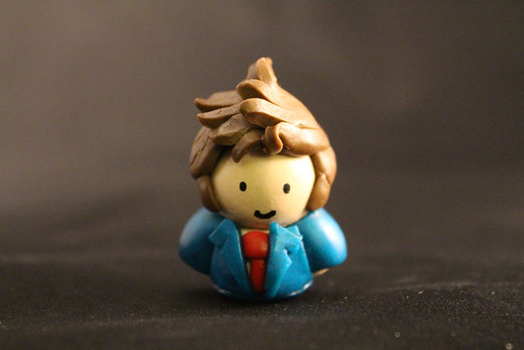 10th Doctor Who Polymer Clay Chibi Charm
