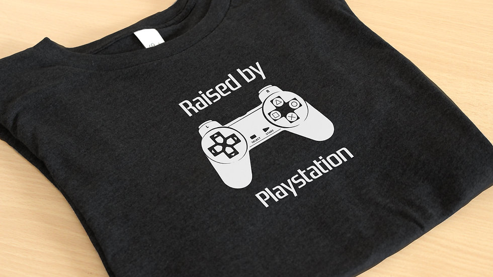 'Raised By Playstation' Graphic Tee