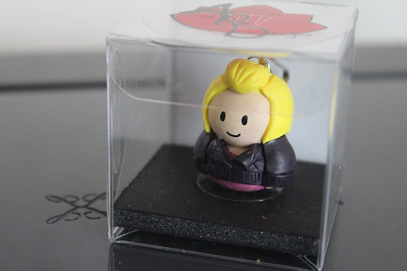 Rose Tyler Dr Who Polymer Clay Chibi Charm