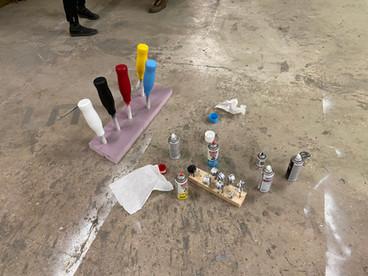 Spraypaint and 3D prints