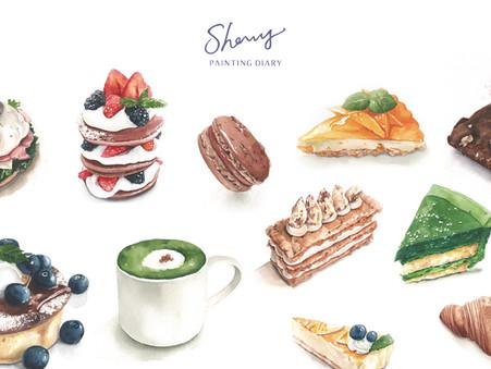 【當個水彩甜點師- 雪莉的午茶繪畫課】Hahow 線上課程