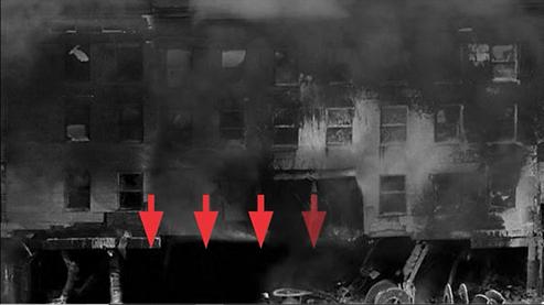 Pentagon Impact Hole on 9/11