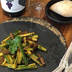 Lazzat ensalada templada de añojos y pepinos