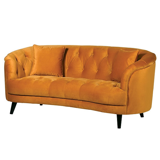 Mustard Curved Sofa