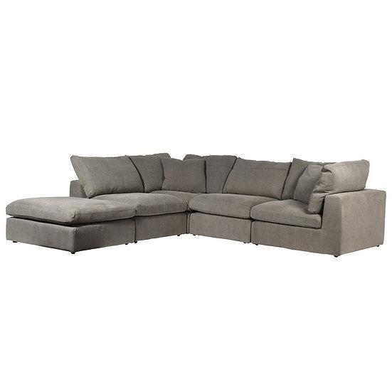 Ryan Stone Grey Corner Sofa