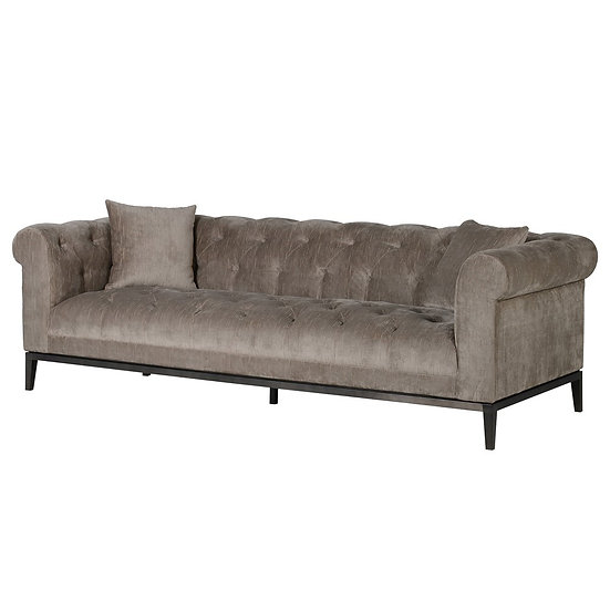 Duncombe Taupe Button 3 Seater Sofa