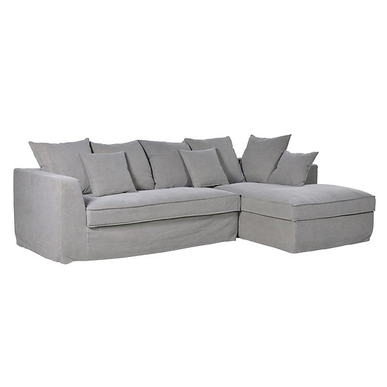 Grey Fabric Corner Sofa