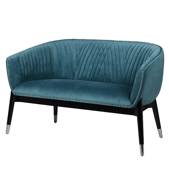 Teal Curve Sofa