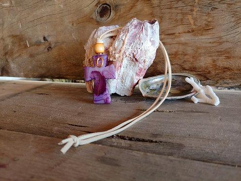 Purple Agate Stone Cross