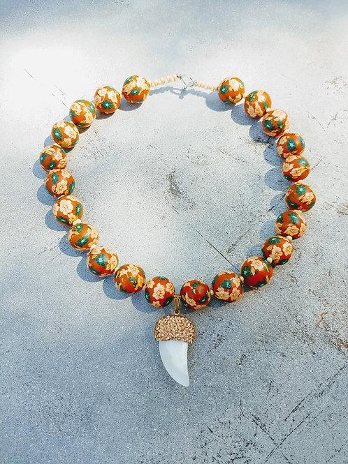 Sour & Sweet Pearl Choker Orange