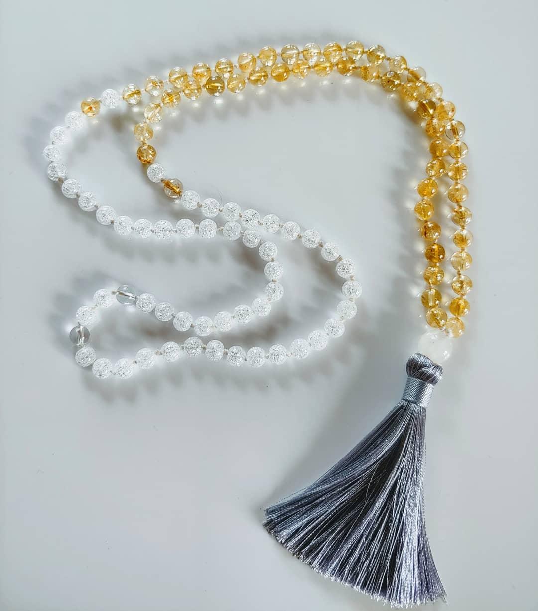 Tassel & color blocking bead segue
