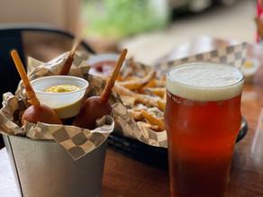 Corndogs & Beer at Walking Man Brewery in Stevenson , WA