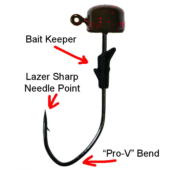Eagle Claw Lazer Sharp Pro-V Finesse Jigs