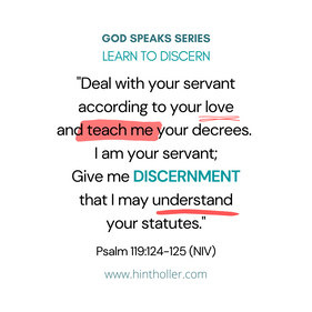 LEARN TO DISCERN
