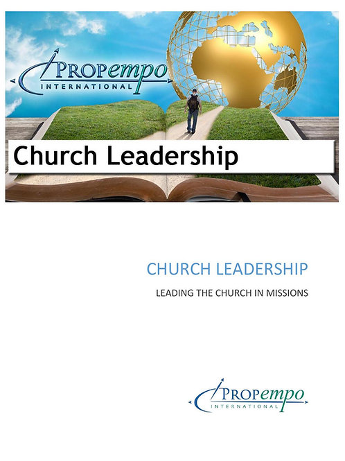 PI Missions Path ebook: CHURCH LEADERSHIP - Leading the Church in Missions