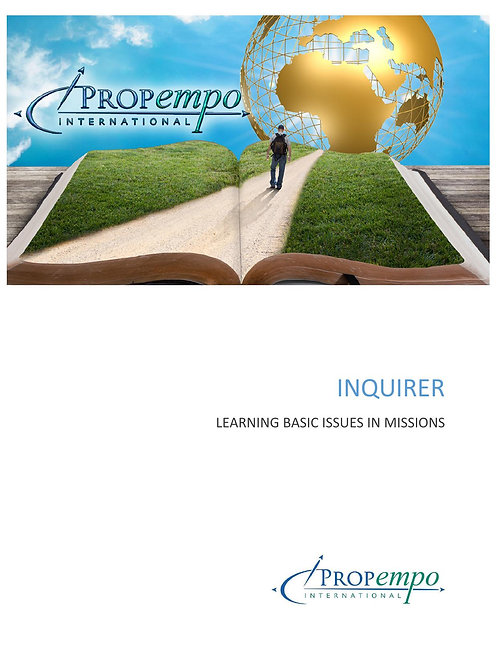 PI Missions Path ebook: INQUIRER - Learning Basic Issues in Missions