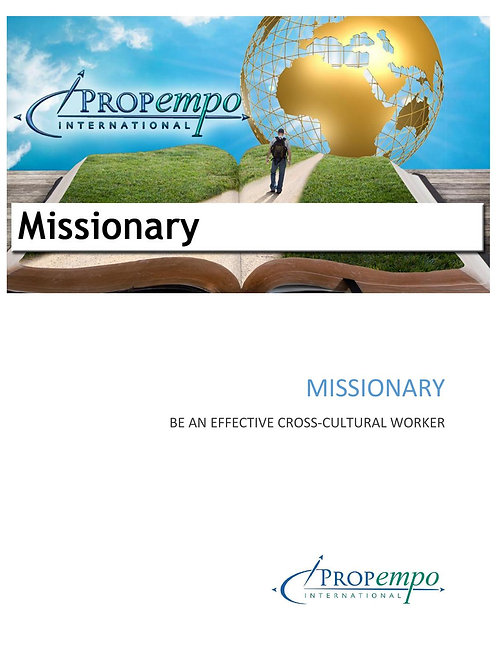 PI Missions Path ebook: MISSIONARY - Be an Effective Cross-Cultural Worker