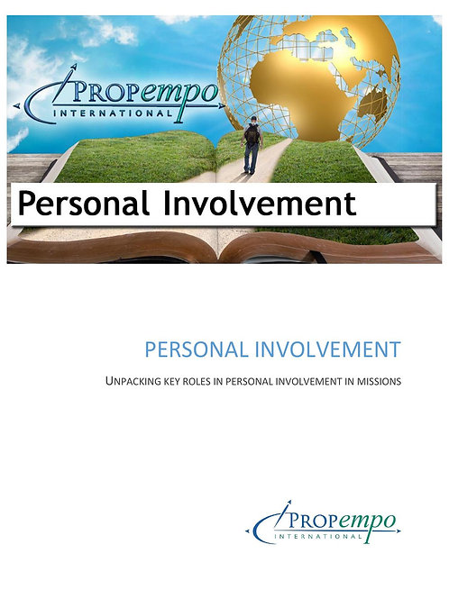 PI Missions Path ebook: PERSONAL INVOLVEMENT - Unpacking Key Roles