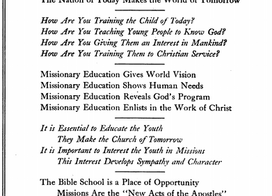 Teach Children to become the Missionaries of the Next Generation