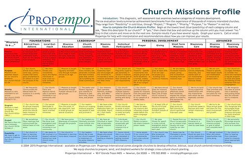 Propempo Church Missions Profile PDF