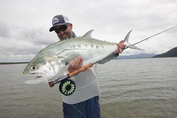 flyfishing for queenfish at the australian flyfishing lodge