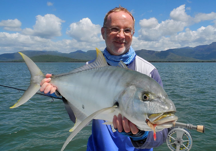 flyfish for golden trevally at the australian fly fishing lodge