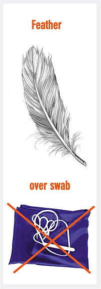 feather vs swab