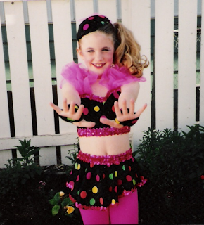 9 year old me.  A dance photo.. not the way I customarily dressed