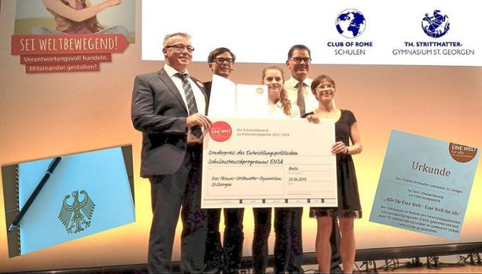 TSG gewinnt ENSA-Schulpreis in Berlin!