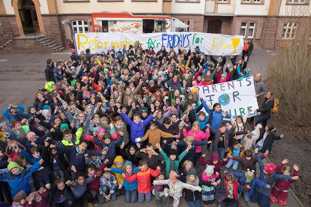Schüler*innen der Reformschule Kassel