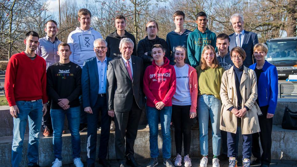 Besuch des hessischen Ministerpräsidents an der Leibnizschule Offenbach
