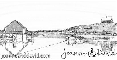 Peggy's Cove, Nova Scotia - Free Adult Colouring Sheet