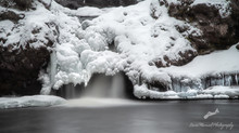 Christie Brook Falls, Greenfield Nova Scotia - Winter