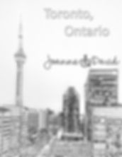 CN Tower, Toronto ON, Adult Colouring Sheet Free