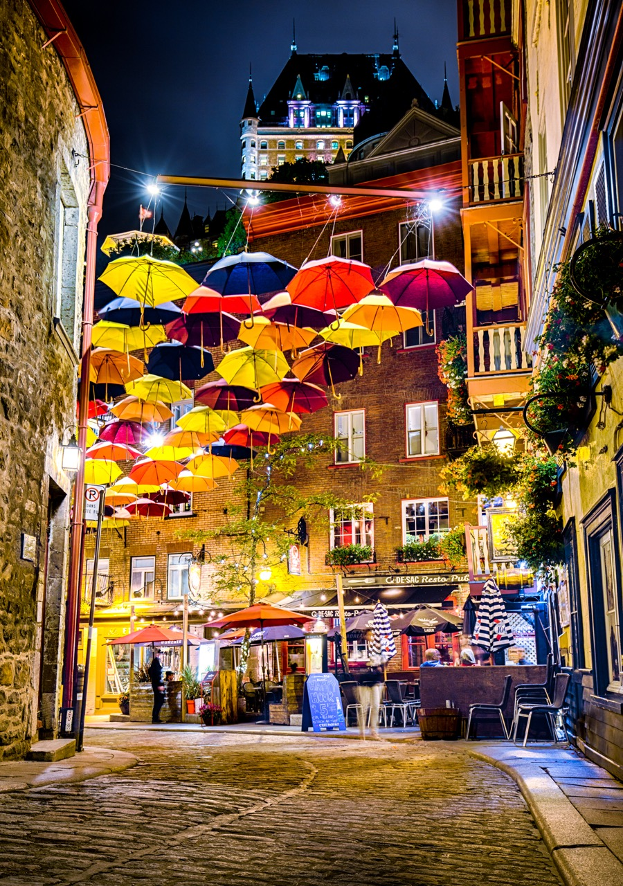 Old Quebec City - Umbrella Street