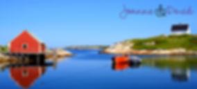 Peggy's Cove, Nova Scotia - Free Adult Colouring Sheet