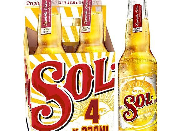 Sol - 4 x 330ml NRB