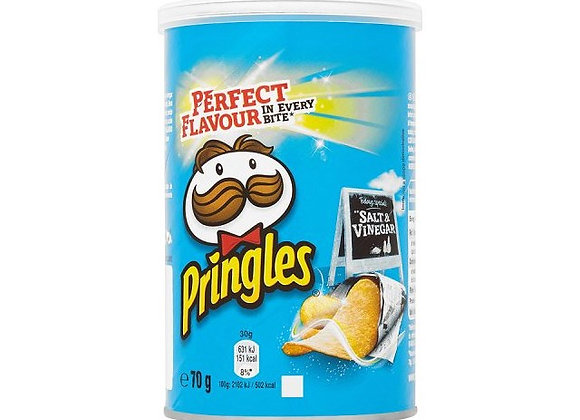 Pringles Salt & Vinegar - 70G tub