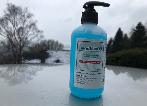 250ml Handisan - Hand Sanitiser with aloe vera