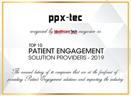 PPX-Tec:Top 10 Patient Engagement Solution Providers 2019