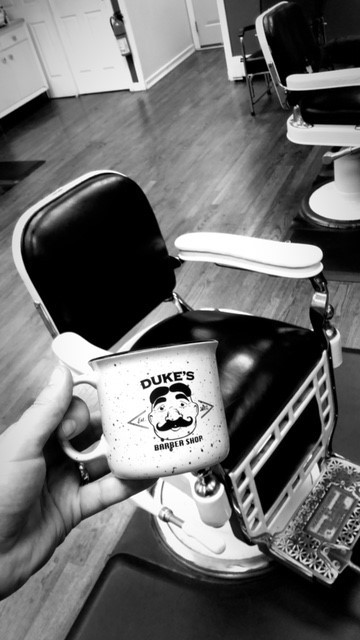 New Dukes Barber Shop Coffee Mugs!