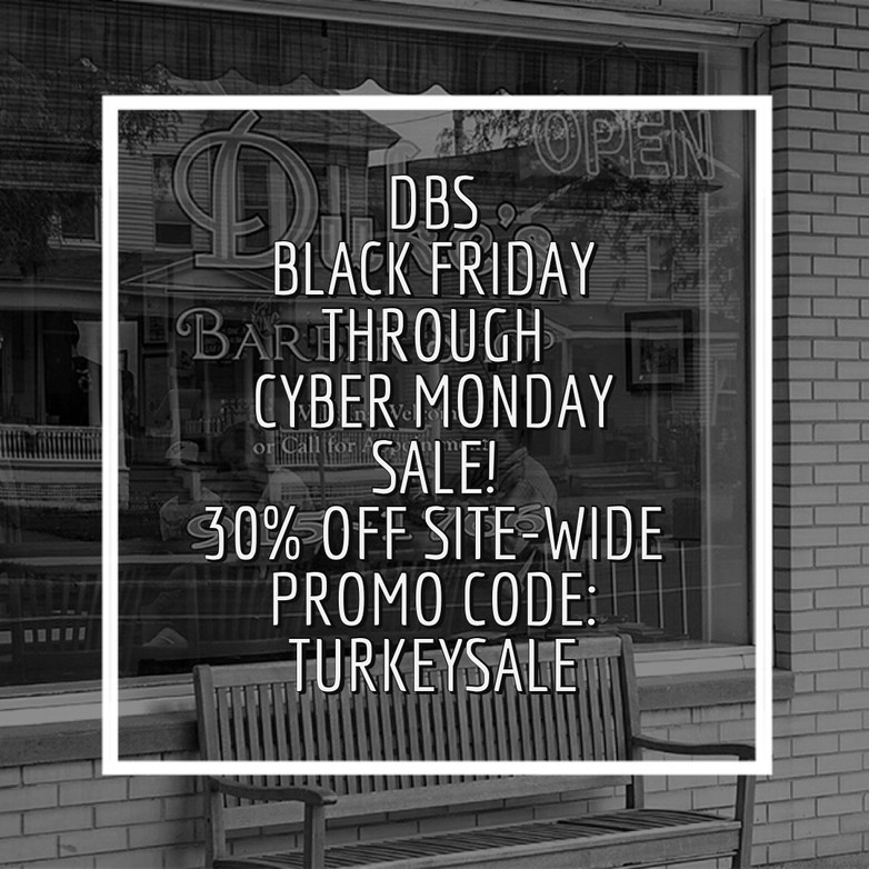 DBS Black Friday - Cyber Monday Sale!