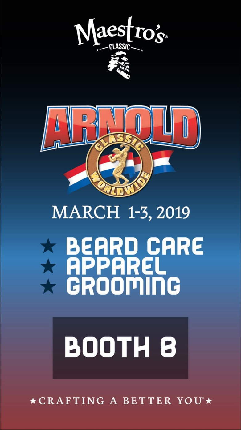 Wes is out of the shop today, 2/27 - 3/5 to represent Dukes Barber Shop at the Arnold Classic!