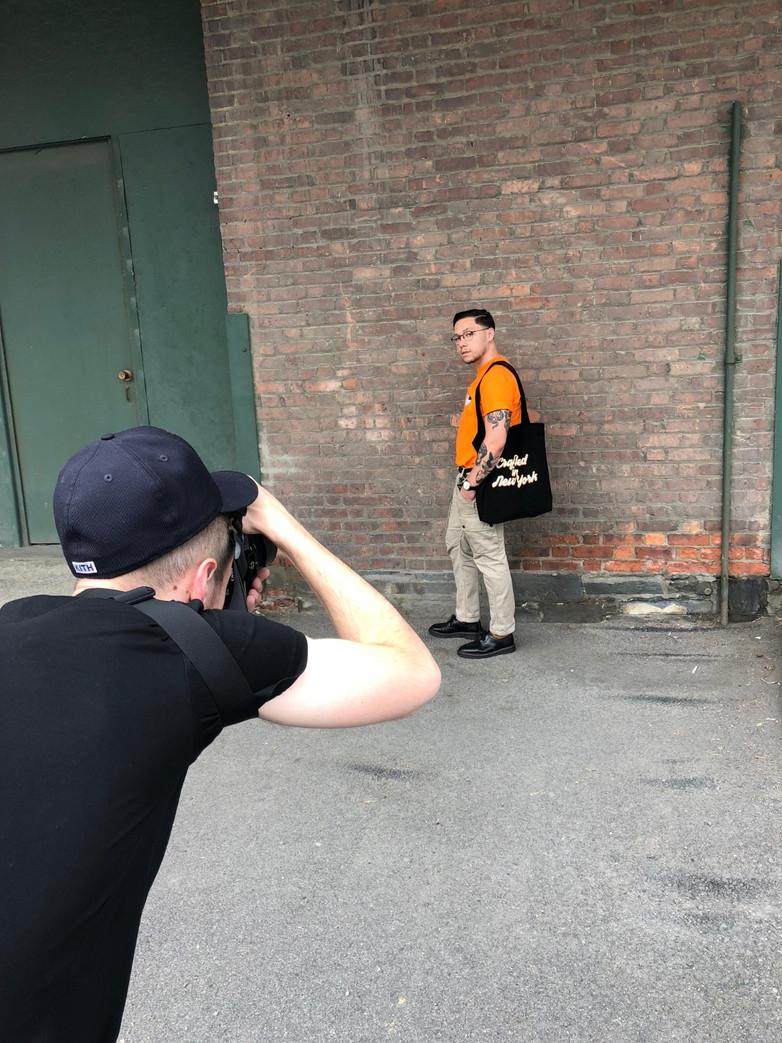 Merch Photo Shoot with Jordan Keyser