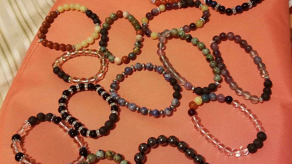 Aromatherapy and Energy Healing bracelets - email me before purchase
