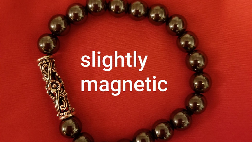 Energy Healing bracelet - Hematite- - custom made. please email me before buying